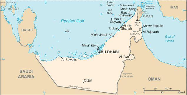 Photo Gallery Sae Spojene Arabske Emiraty Politicka Mapa