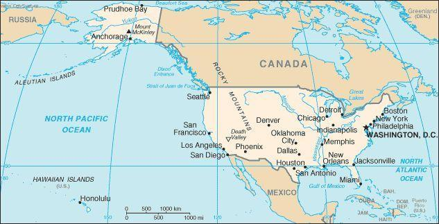 Foto Usa Politicka Mapa