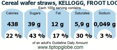 Cereal wafer straws, KELLOGG, FROOT