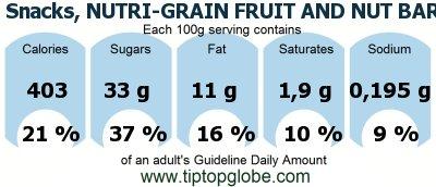 Snacks, NUTRI-GRAIN FRUIT AND NUT BAR