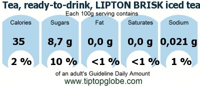 drink, LIPTON BRISK iced tea