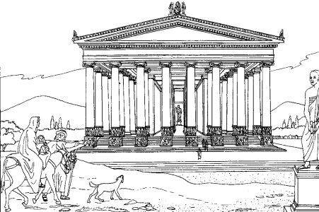 coloring pages of roman buildings - photo#21