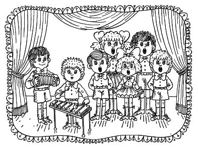 free coloring pages - Music Coloring Pages