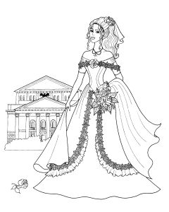 Free Coloring pages for boys and girls: For girls: Barbie, dolls