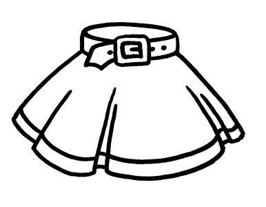 All free coloring pages 833 for girls clothing 8 pages