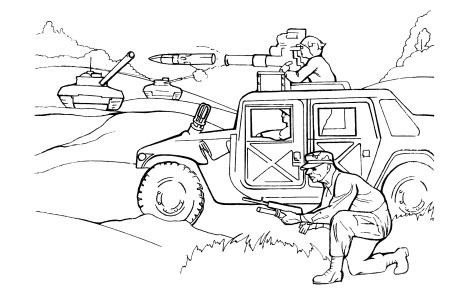 Free Coloring pages for boys and girls: For boys: War