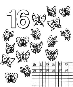 Free Coloring Pages For Boys And Girls School Numbers