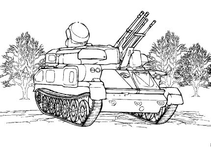 Free Coloring pages for boys and girls: Technique: Tanks, vehicles