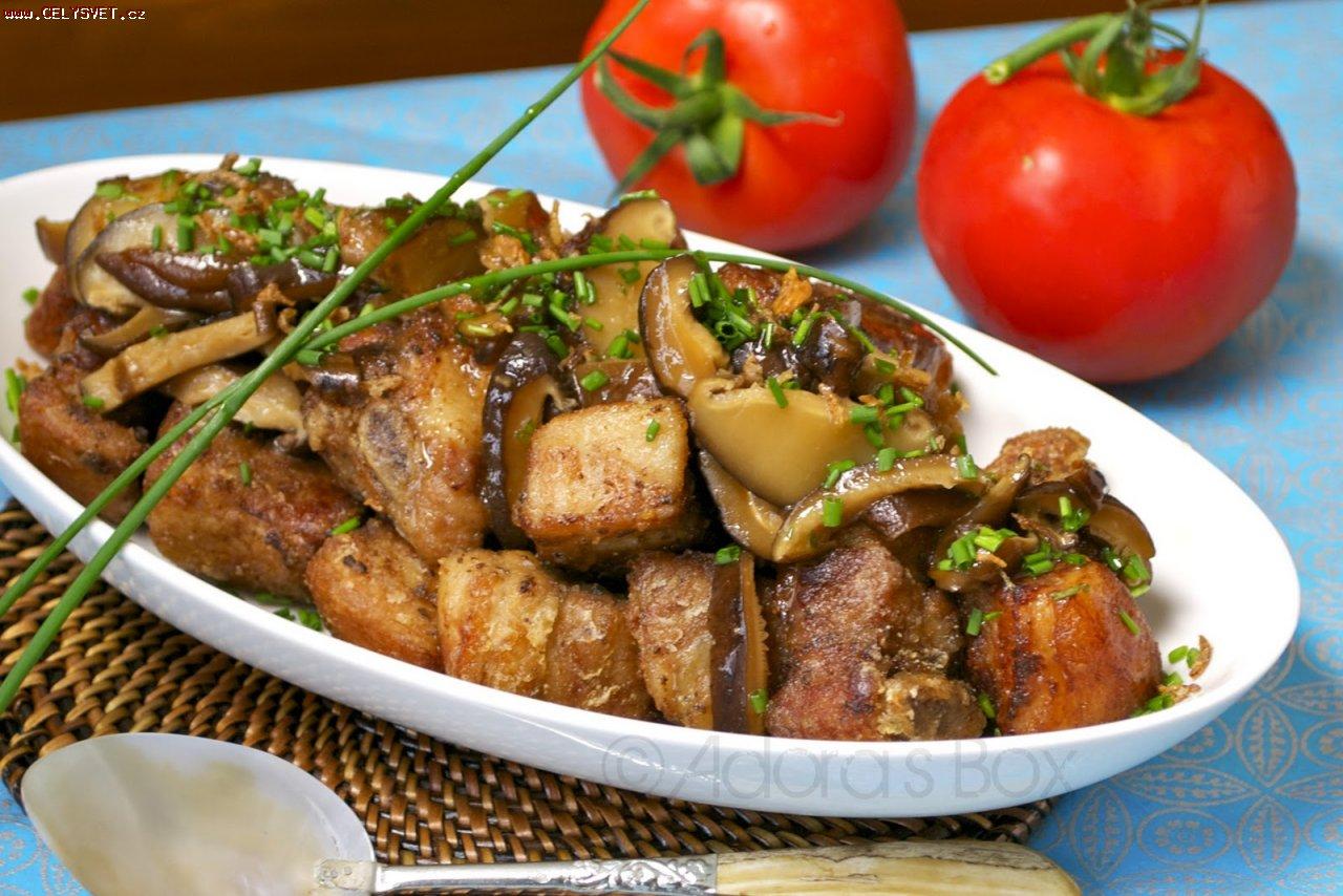 Говядина с грибами на сковороде рецепт 162